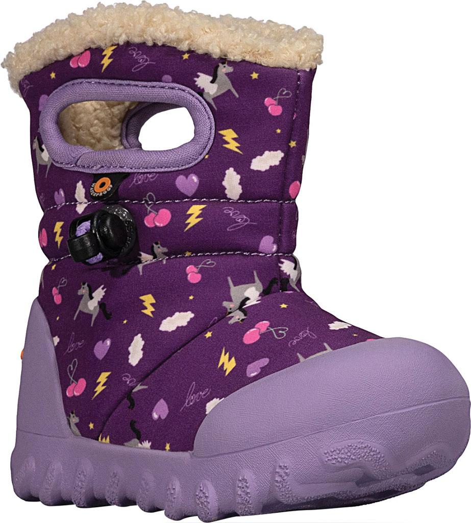 Infant Bogs B Moc Infant Boot, Purple Multi Pegasus Polyester, large, image 1