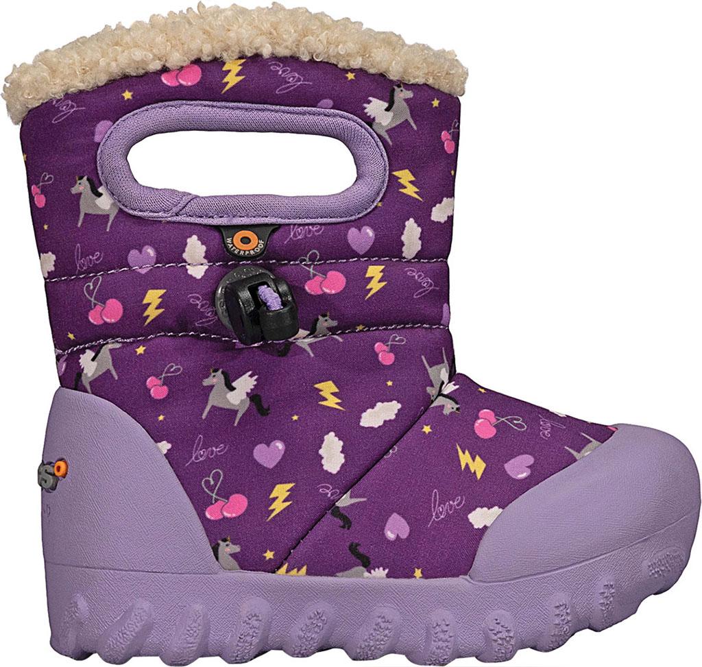Infant Bogs B Moc Infant Boot, Purple Multi Pegasus Polyester, large, image 2