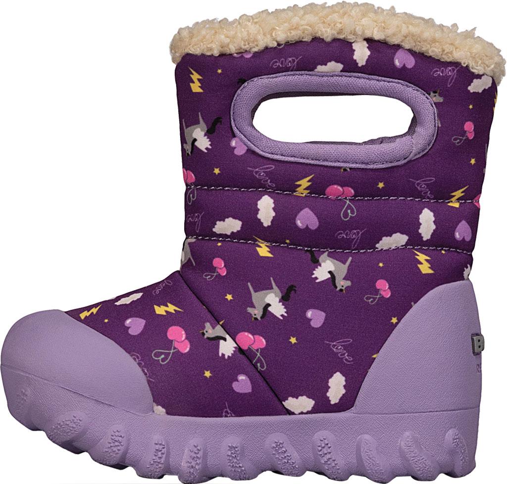 Infant Bogs B Moc Infant Boot, Purple Multi Pegasus Polyester, large, image 3