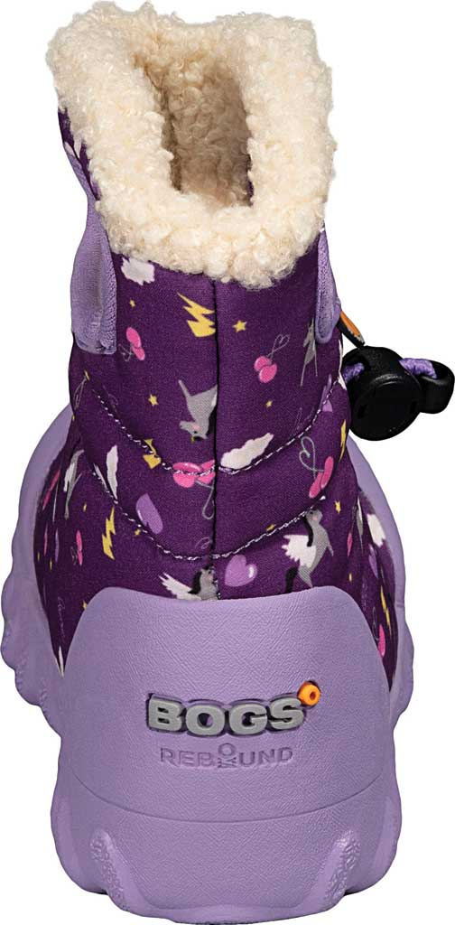 Infant Bogs B Moc Infant Boot, Purple Multi Pegasus Polyester, large, image 4