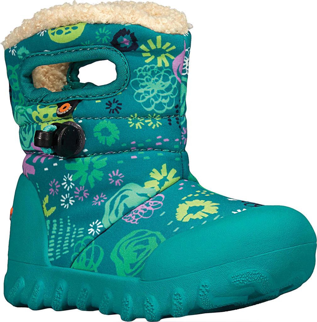 Infant Bogs B Moc Infant Boot, Teal Multi Garden Party Polyester, large, image 1