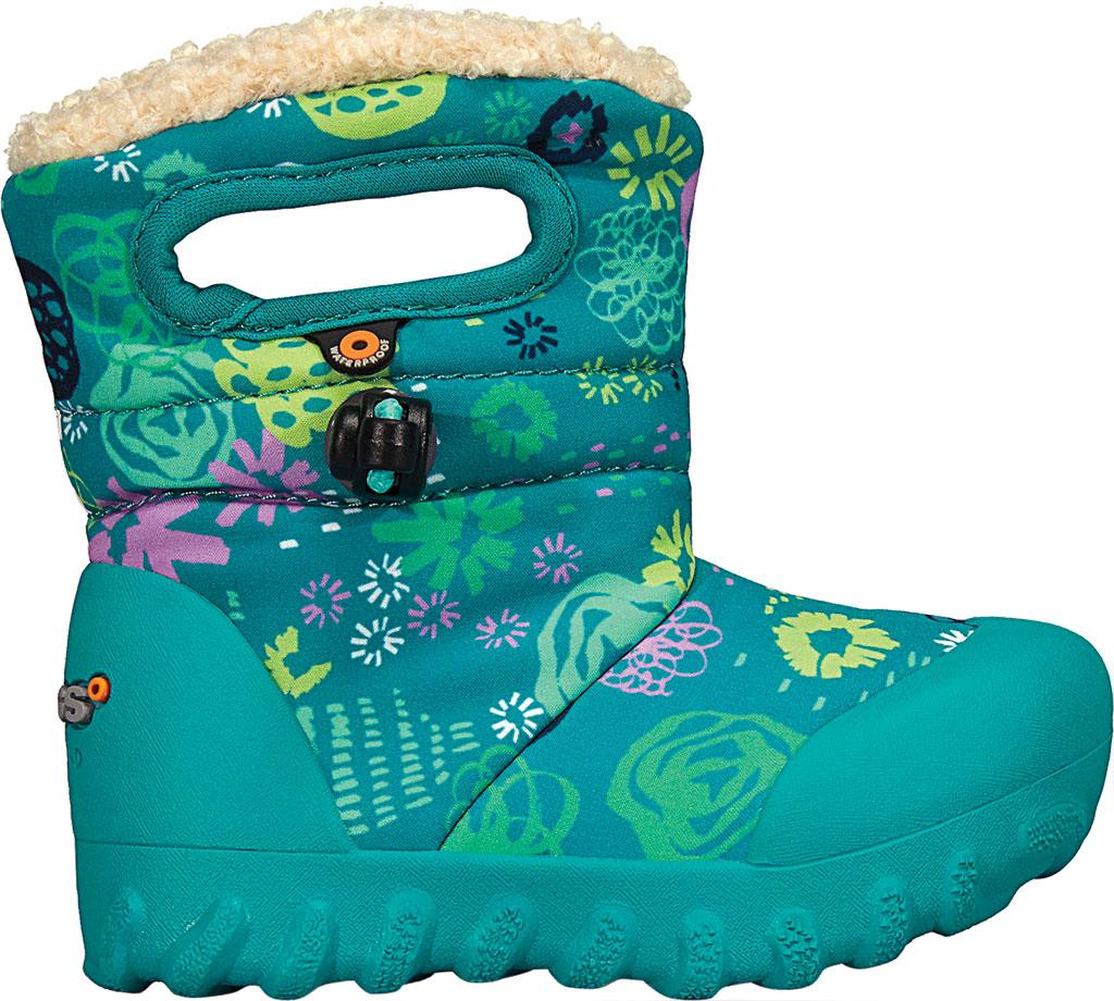 Infant Bogs B Moc Infant Boot, Teal Multi Garden Party Polyester, large, image 2