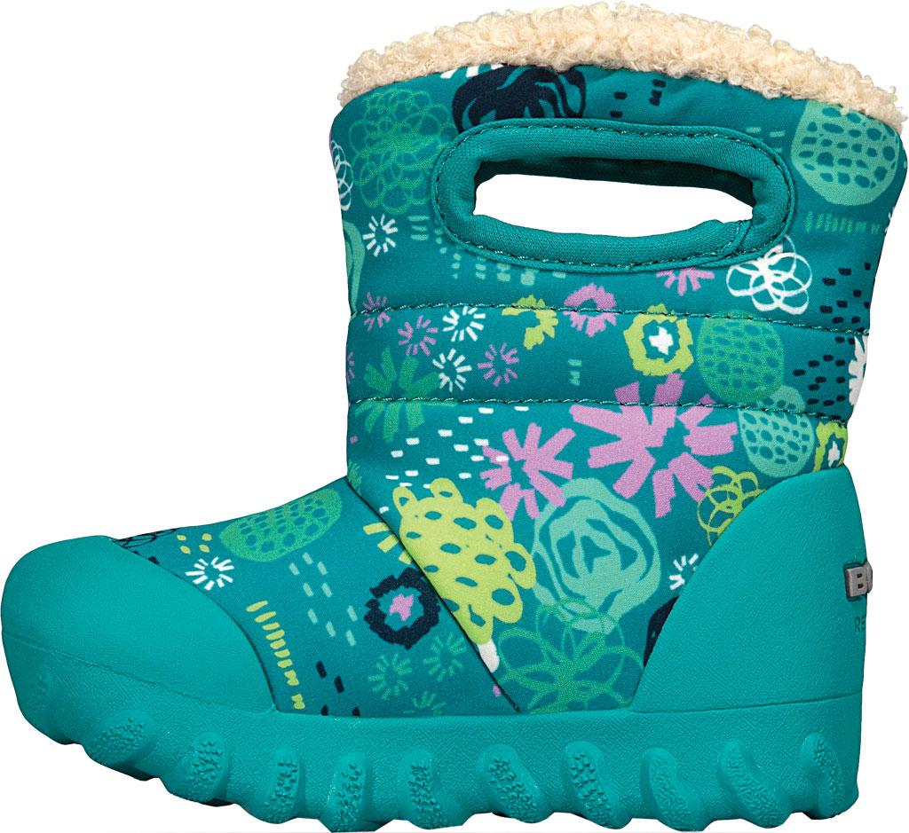 Infant Bogs B Moc Infant Boot, Teal Multi Garden Party Polyester, large, image 3