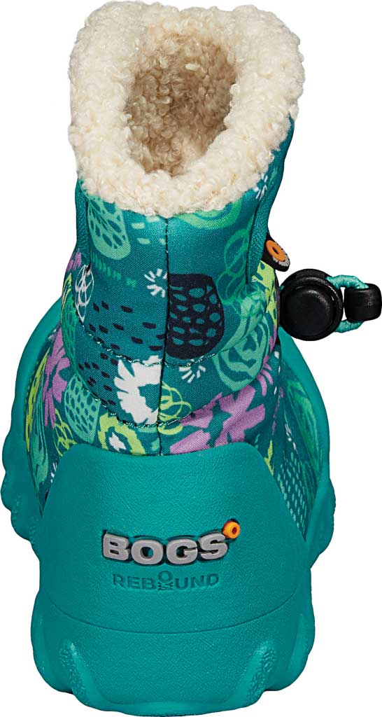 Infant Bogs B Moc Infant Boot, Teal Multi Garden Party Polyester, large, image 4