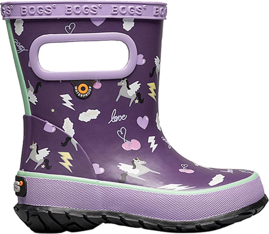 Infant Bogs Skipper Kids Boot, Purple Multi/Pegasus Rubber, large, image 2