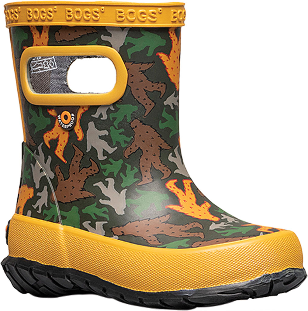 Infant Bogs Skipper Kids Boot, Army Green Multi/Big Foot Rubber, large, image 1