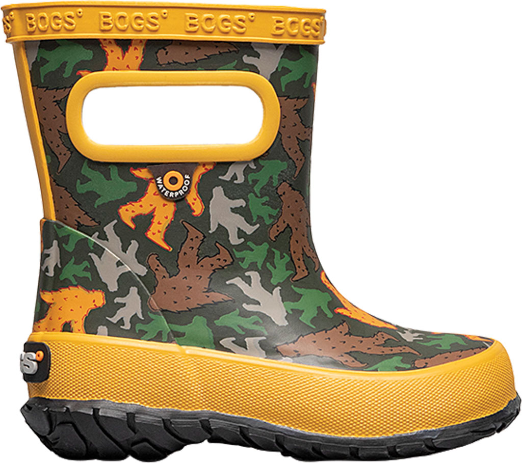 Infant Bogs Skipper Kids Boot, Army Green Multi/Big Foot Rubber, large, image 2