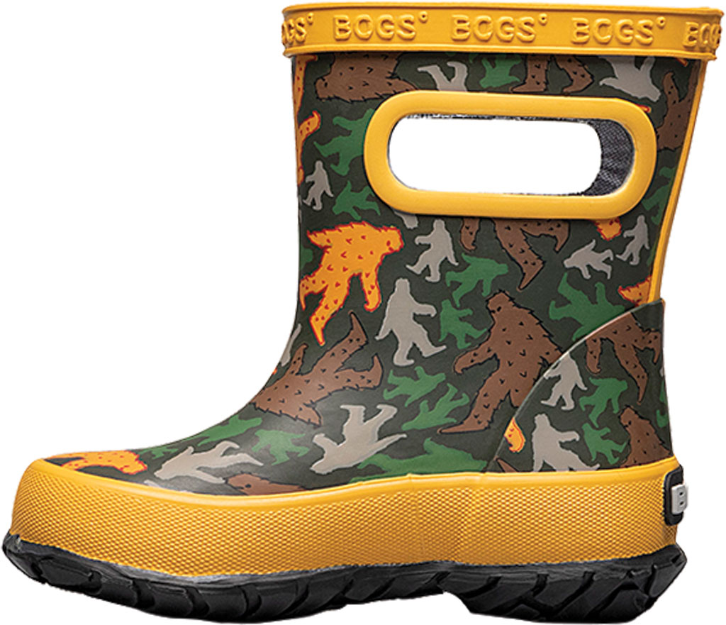Infant Bogs Skipper Kids Boot, Army Green Multi/Big Foot Rubber, large, image 3