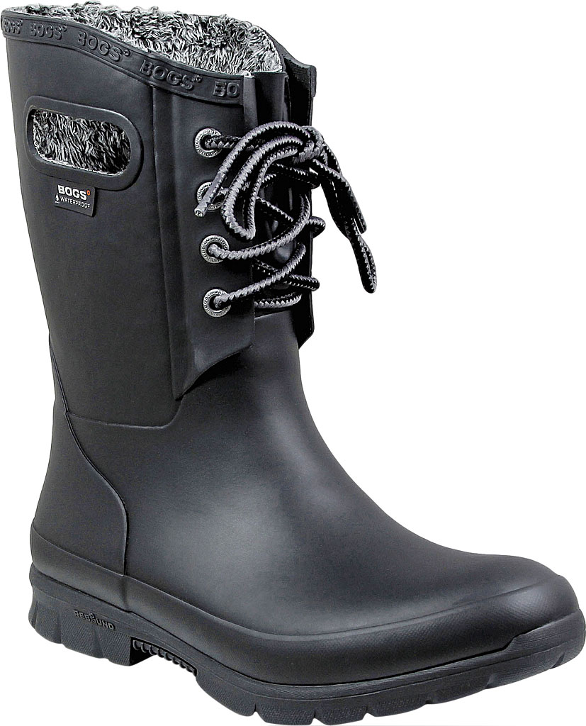 Women's Bogs Amanda Plush Boot, Black, large, image 1