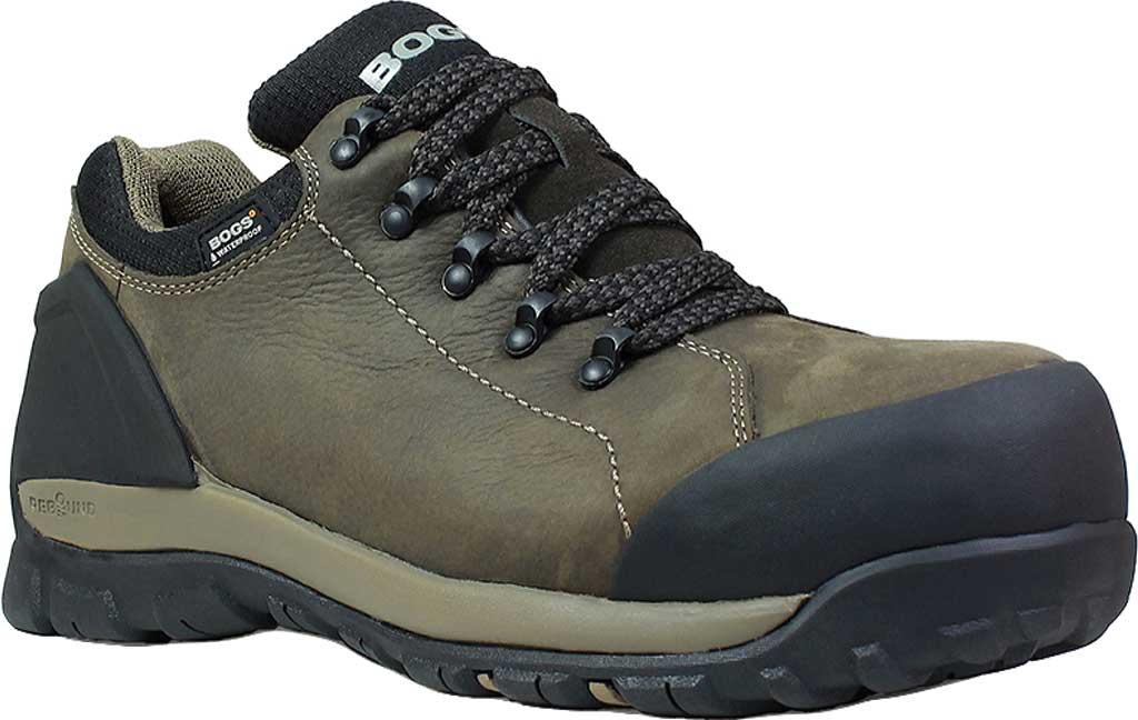 Men's Bogs Foundation Leather Low Shoe, Brown Nubuck, large, image 1