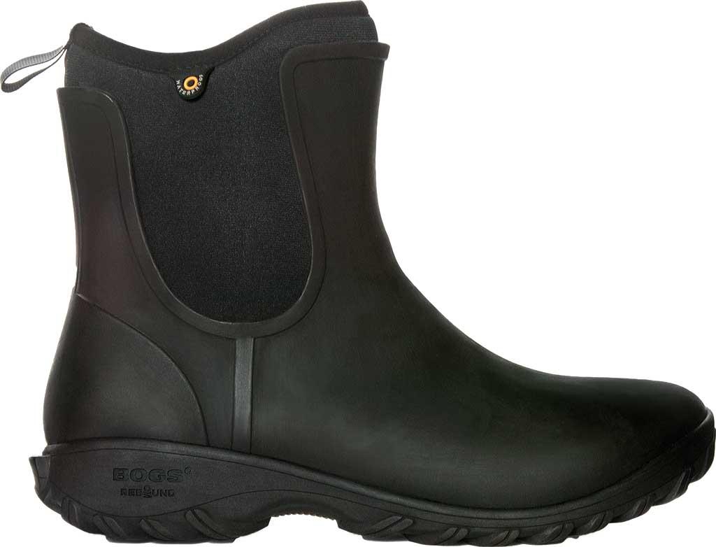 Women's Bogs Sauvie Slip On Boot, Black Rubber, large, image 1
