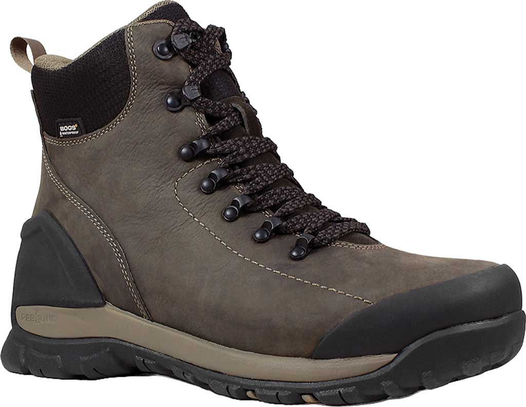 Men's Bogs Foundation Leather CT Boot, Brown Nubuck, large, image 1