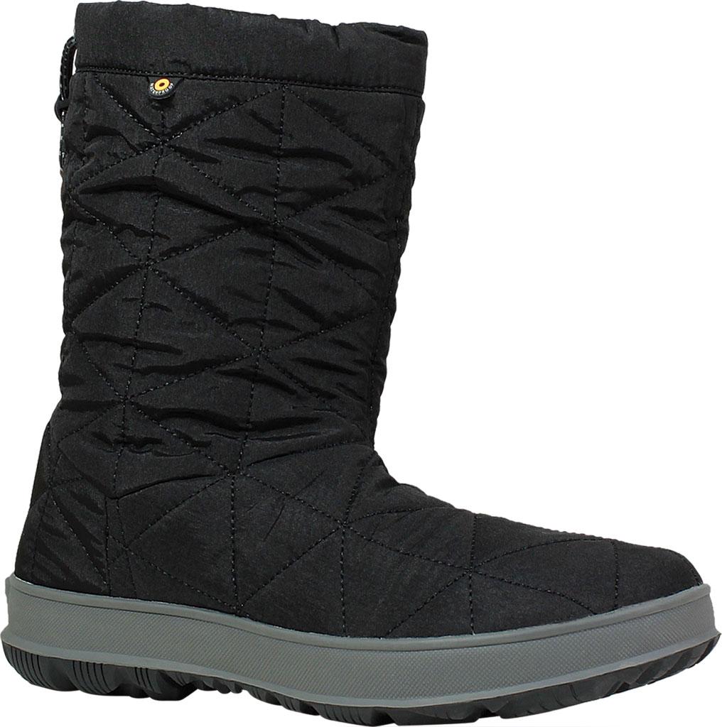 Women's Bogs Snowday Mid Boot, Black Nylon, large, image 1