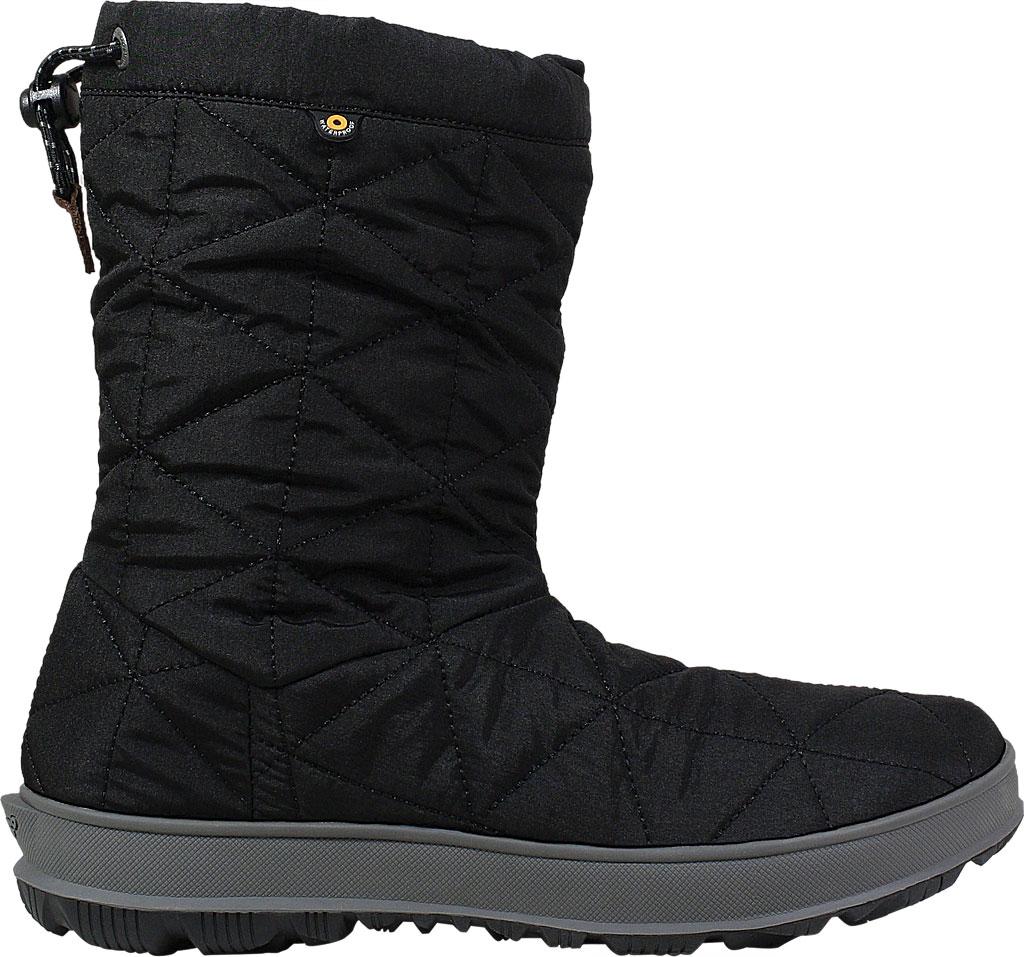 Women's Bogs Snowday Mid Boot, Black Nylon, large, image 2