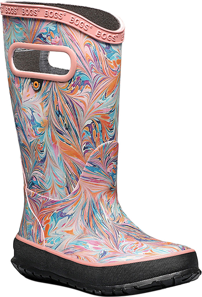 Children's Bogs Classic Rainboot, Coral Marble Rubber, large, image 1