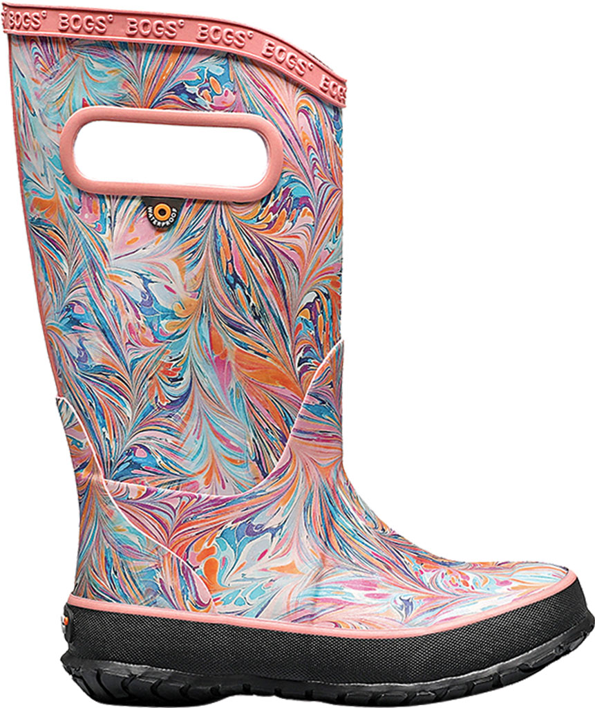 Children's Bogs Classic Rainboot, Coral Marble Rubber, large, image 2