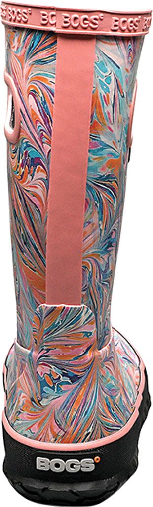 Children's Bogs Classic Rainboot, Coral Marble Rubber, large, image 4