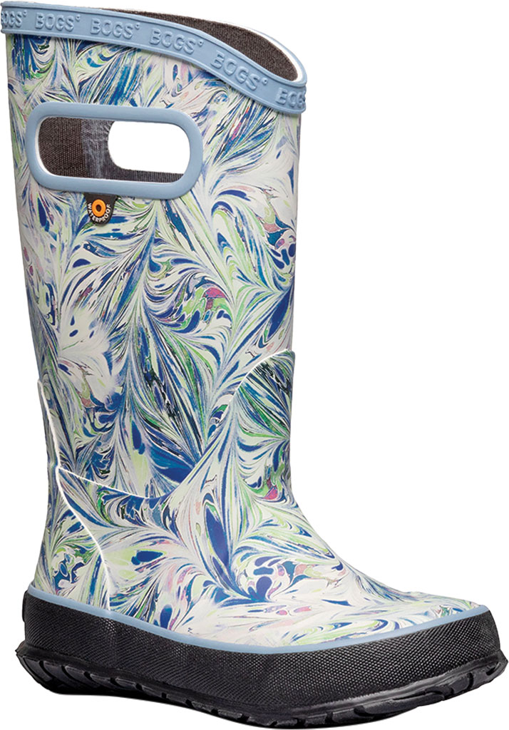 Children's Bogs Classic Rainboot, Periwinkle Marble Rubber, large, image 1