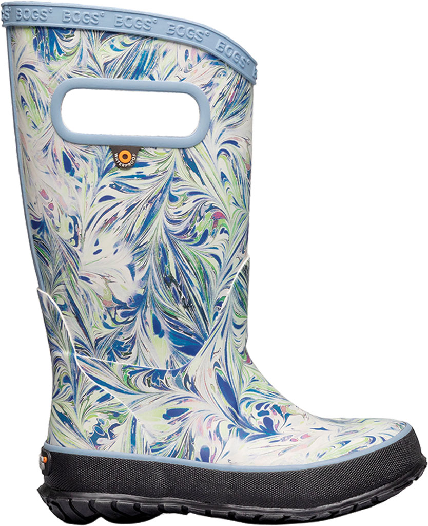 Children's Bogs Classic Rainboot, Periwinkle Marble Rubber, large, image 2