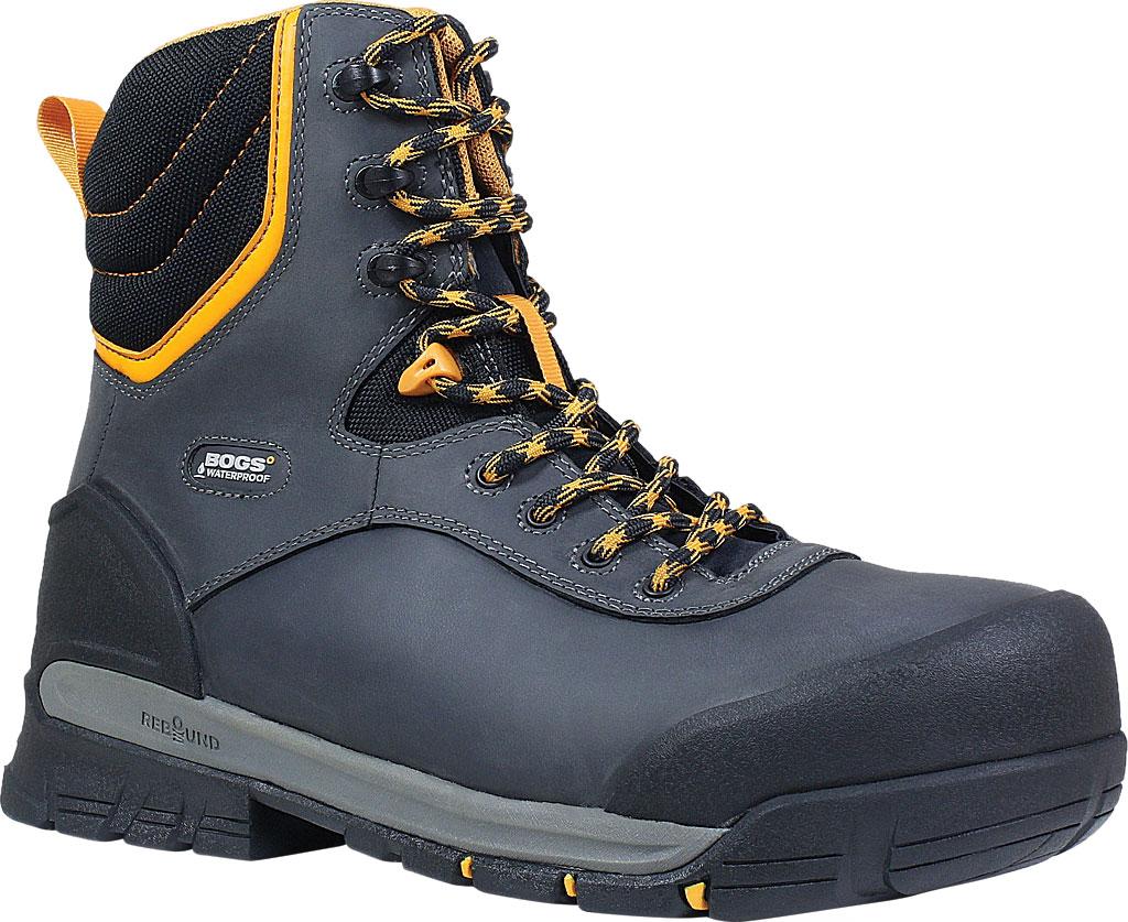 "Men's Bogs Bedrock 8"" Insulated Composite Toe Work Boot, Black Multi Leather, large, image 1"