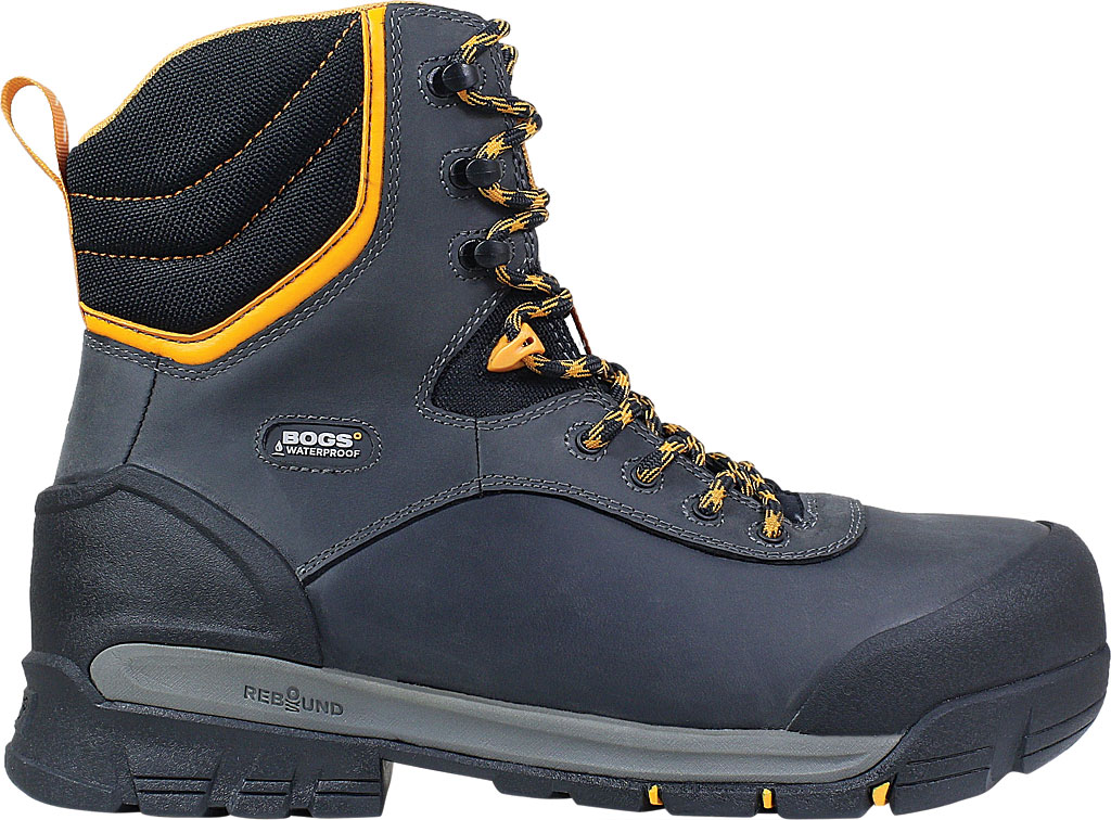 "Men's Bogs Bedrock 8"" Insulated Composite Toe Work Boot, Black Multi Leather, large, image 2"