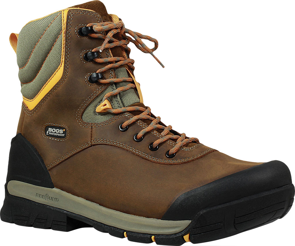 """Men's Bogs Bedrock 8"""" Insulated Composite Toe Work Boot, Brown Multi Leather, large, image 1"""