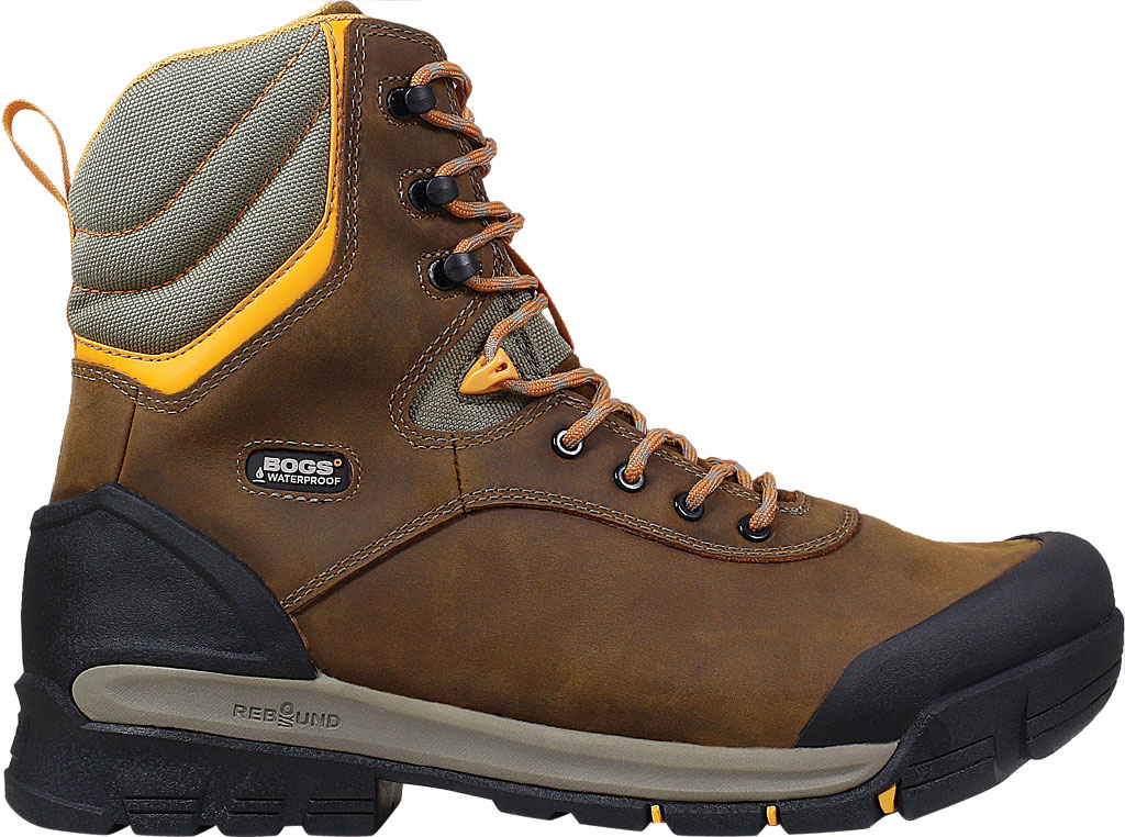 """Men's Bogs Bedrock 8"""" Insulated Composite Toe Work Boot, Brown Multi Leather, large, image 2"""