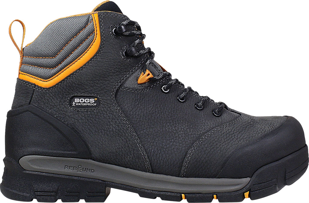 Men's Bogs Bedrock Mid Composite Toe Work Boot, Black Multi Leather, large, image 2