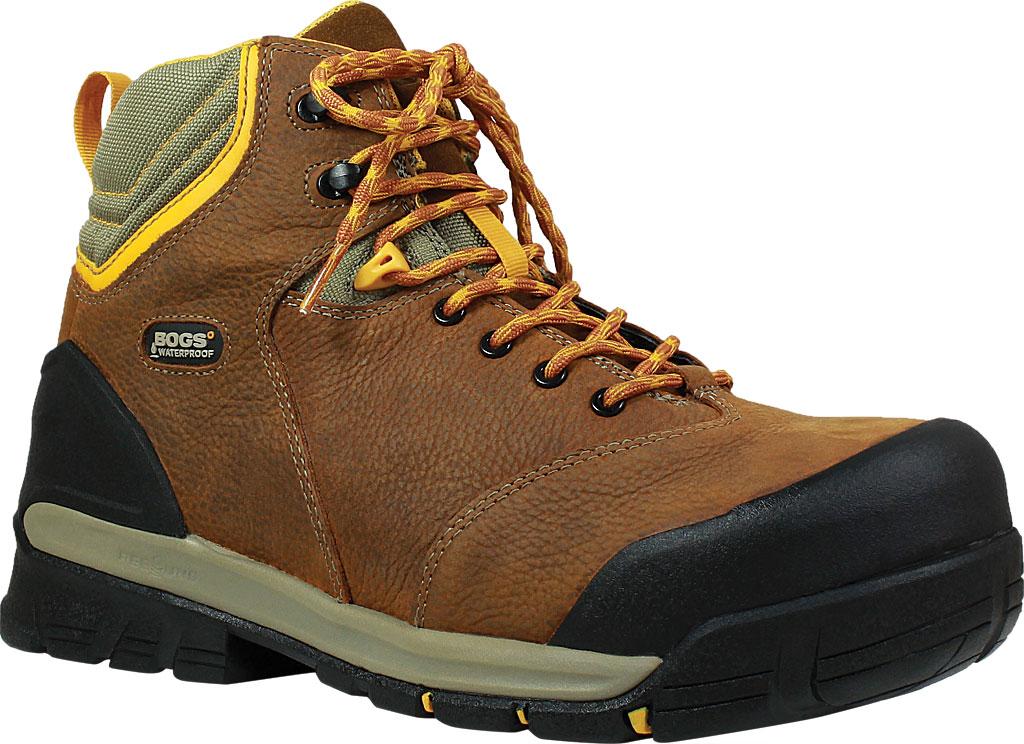 Men's Bogs Bedrock Mid Composite Toe Work Boot, Brown Multi Leather, large, image 1