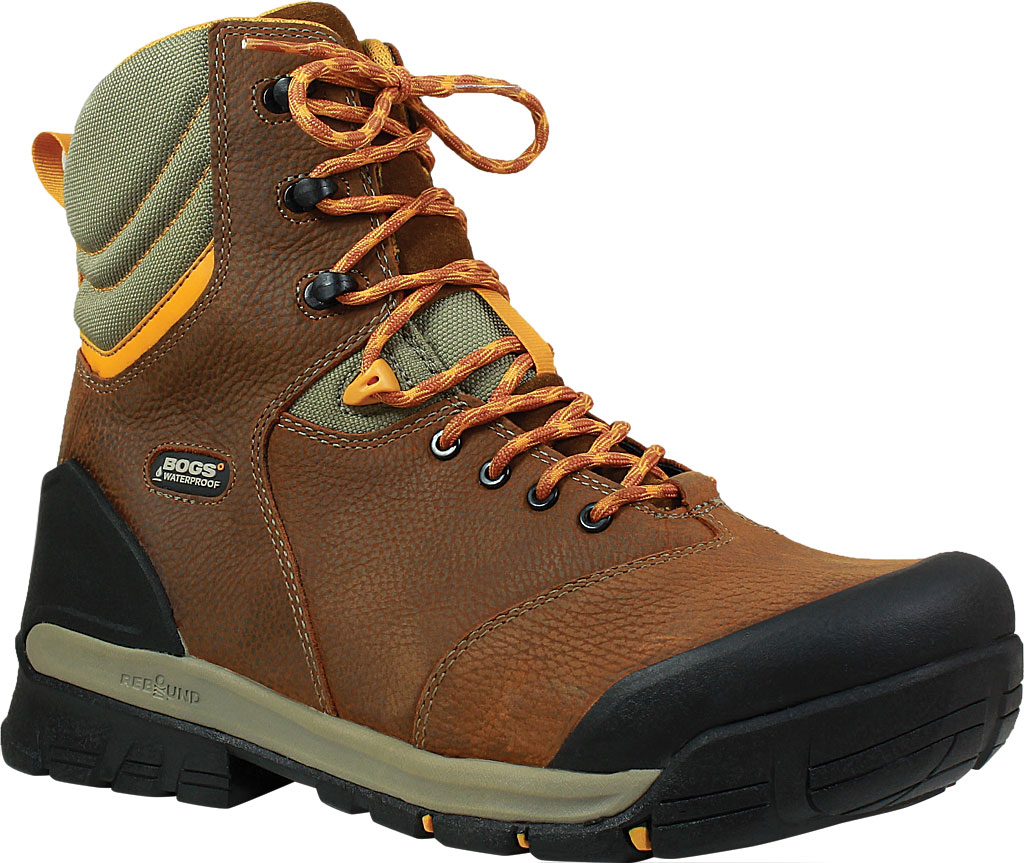 "Men's Bogs Bedrock 8"" Composite Toe Work Boot, Brown Multi Leather, large, image 1"