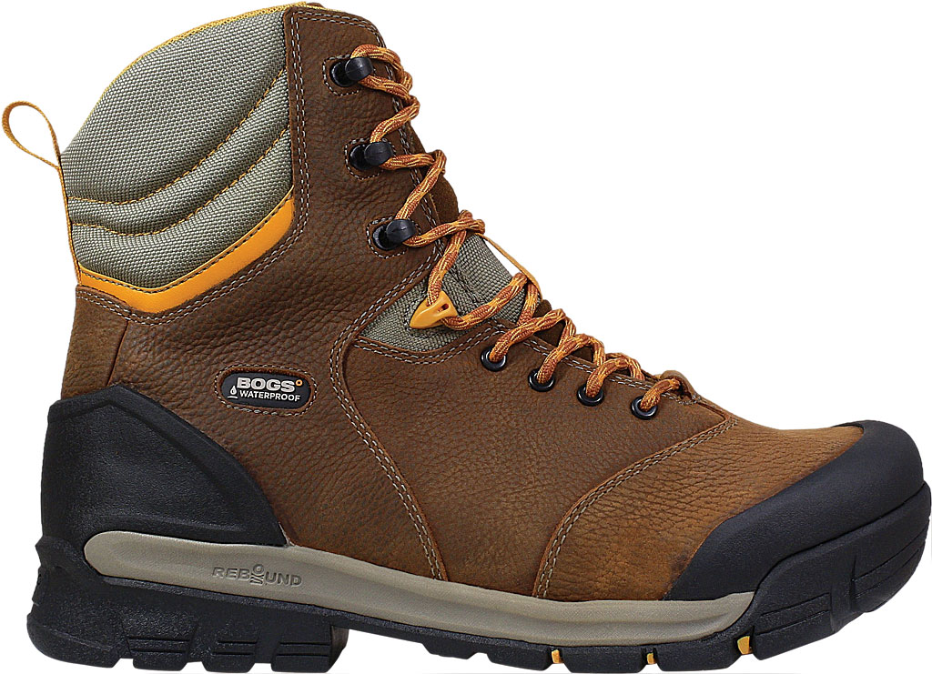 "Men's Bogs Bedrock 8"" Composite Toe Work Boot, Brown Multi Leather, large, image 2"
