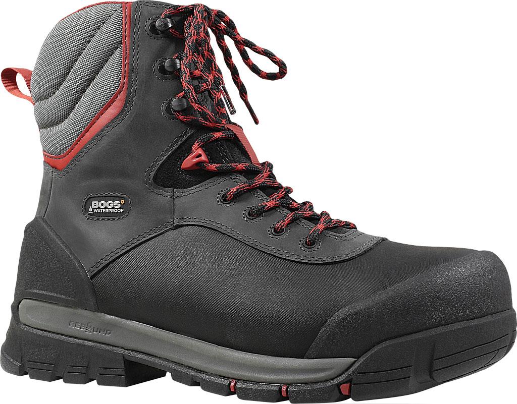 "Men's Bogs Bedrock 8"" Composite Toe Work Boot, Black Multi Leather/Textile, large, image 1"