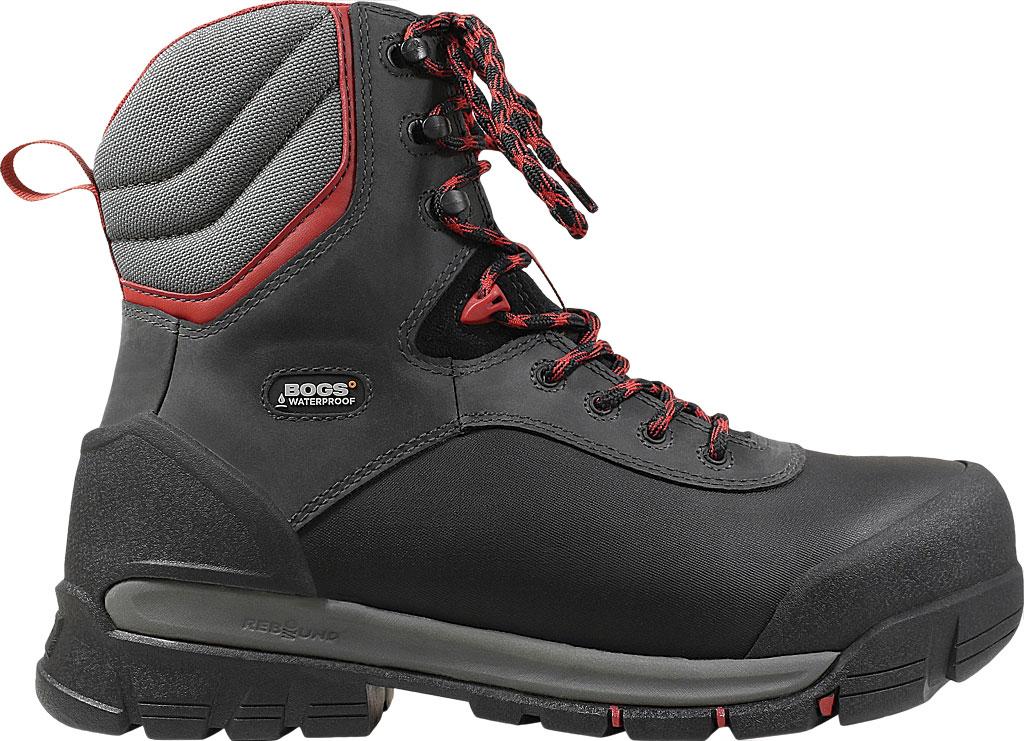 "Men's Bogs Bedrock 8"" Composite Toe Work Boot, Black Multi Leather/Textile, large, image 2"