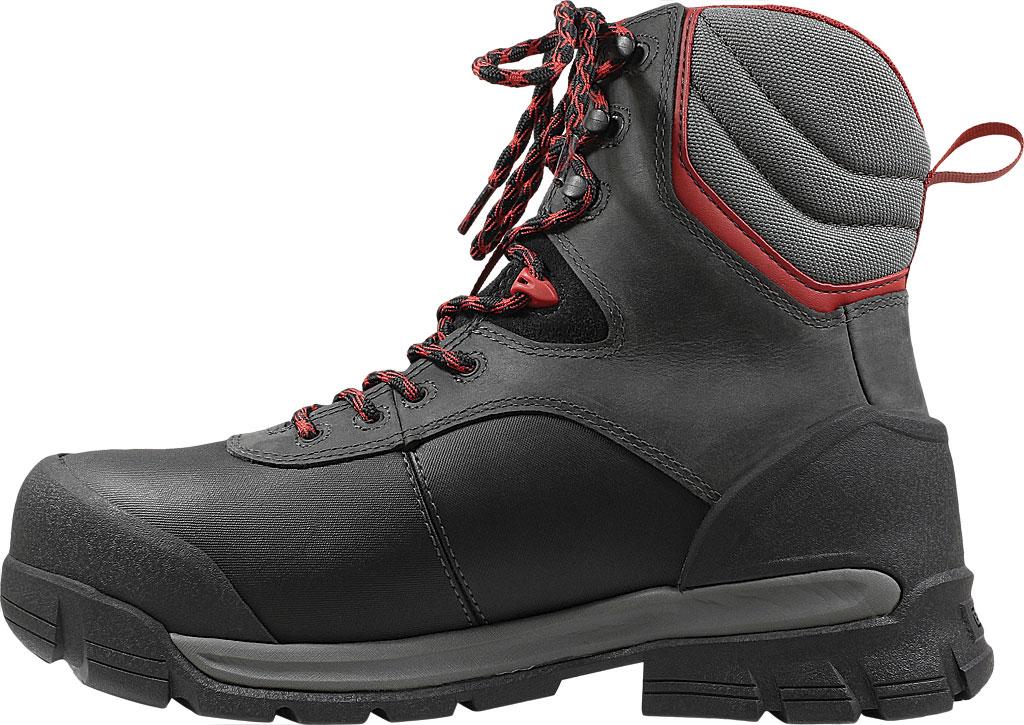 "Men's Bogs Bedrock 8"" Composite Toe Work Boot, Black Multi Leather/Textile, large, image 3"