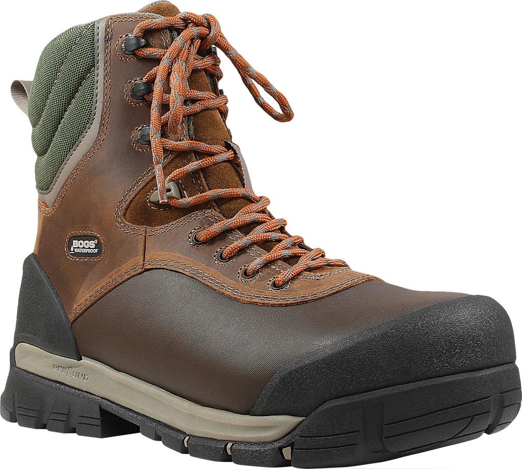 "Men's Bogs Bedrock 8"" Composite Toe Work Boot, Brown Multi Leather/Textile, large, image 1"