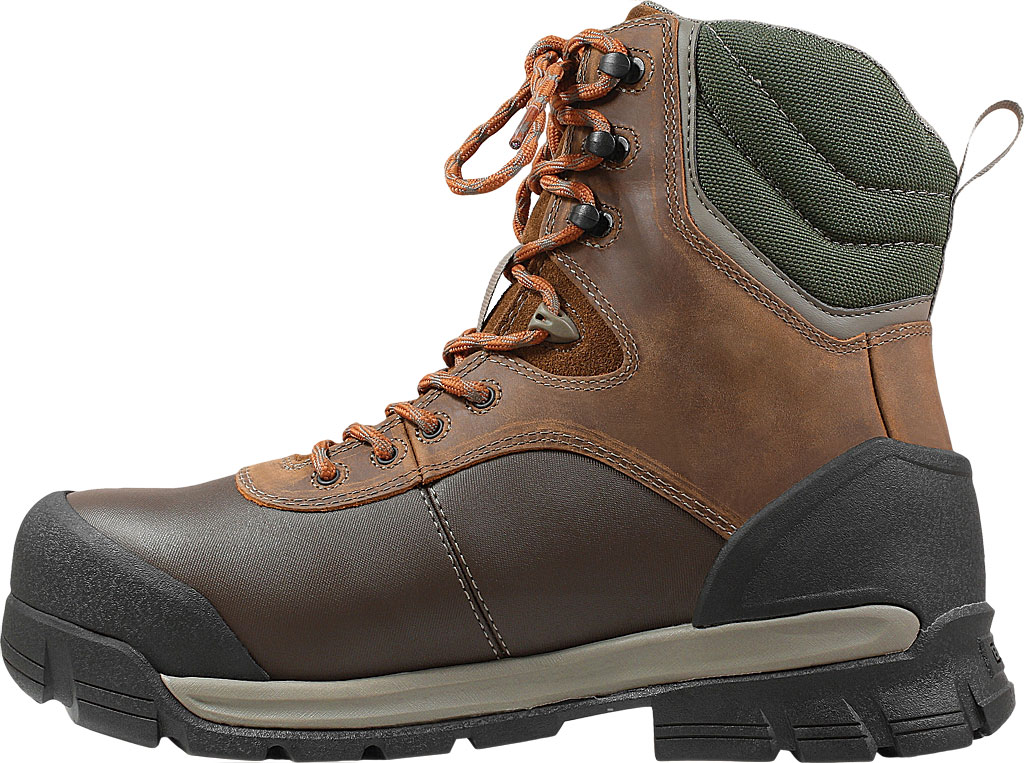 "Men's Bogs Bedrock 8"" Composite Toe Work Boot, Brown Multi Leather/Textile, large, image 3"
