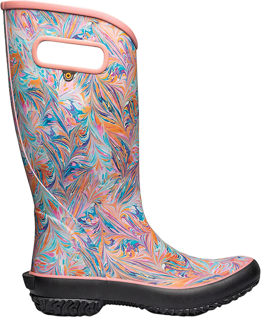 Women's Bogs Classic Rubber Rainboot, Coral Marble Rubber, large, image 2