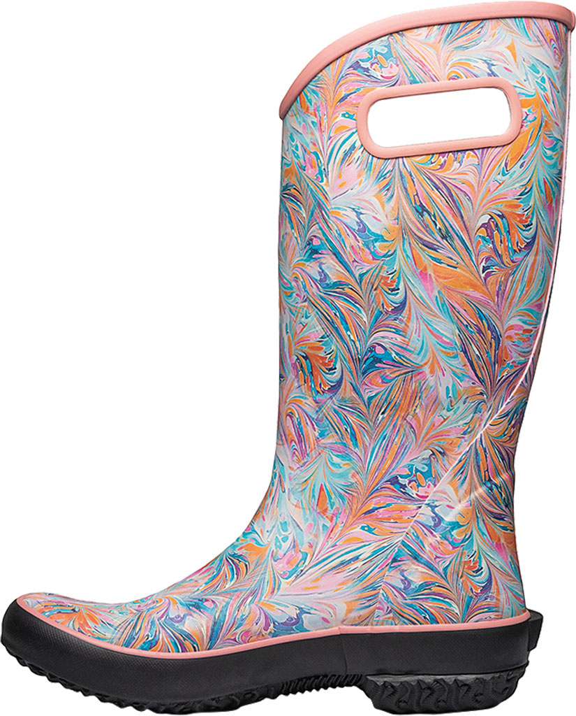 Women's Bogs Classic Rubber Rainboot, Coral Marble Rubber, large, image 3
