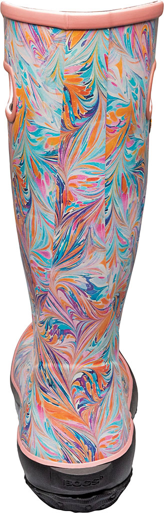 Women's Bogs Classic Rubber Rainboot, Coral Marble Rubber, large, image 4