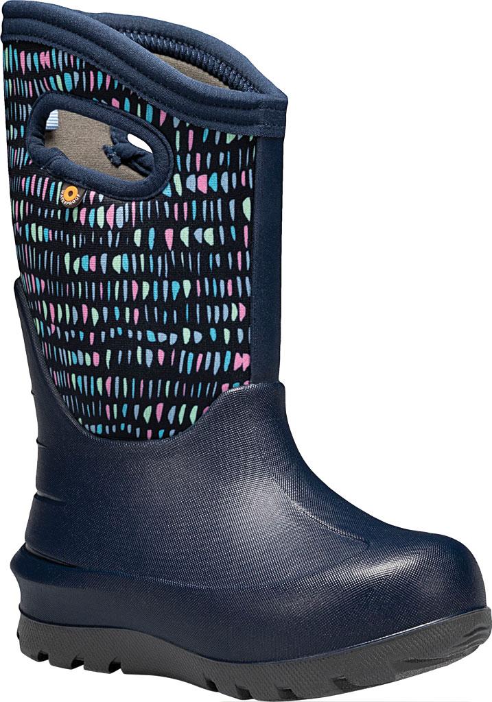 Children's Bogs Neo-Classic Pull On Winter Boot, Dark Blue Twinkle Multi Rubber/Nylon, large, image 1
