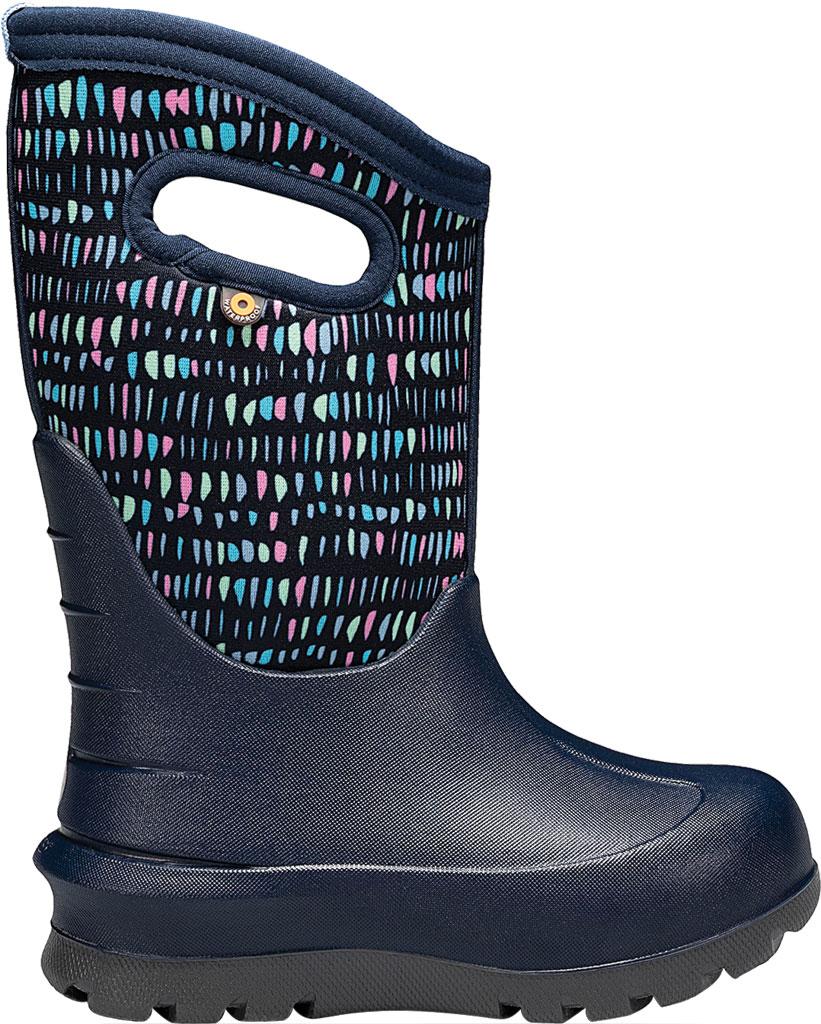 Children's Bogs Neo-Classic Pull On Winter Boot, Dark Blue Twinkle Multi Rubber/Nylon, large, image 2