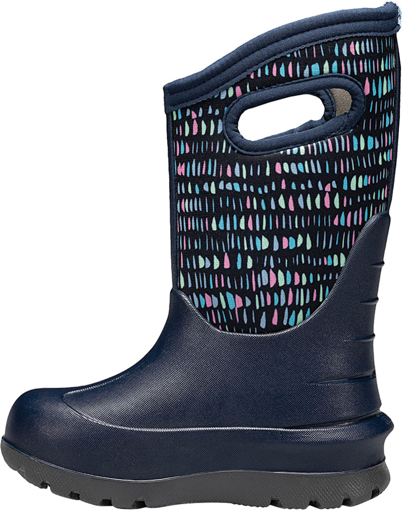 Children's Bogs Neo-Classic Pull On Winter Boot, Dark Blue Twinkle Multi Rubber/Nylon, large, image 3