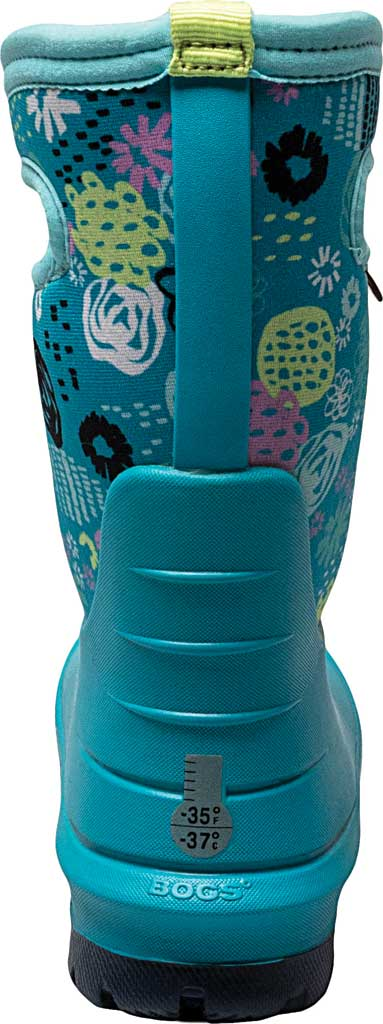 Children's Bogs Neo-Classic Pull On Winter Boot, Teal Multi Butterflies Rubber/Nylon, large, image 4