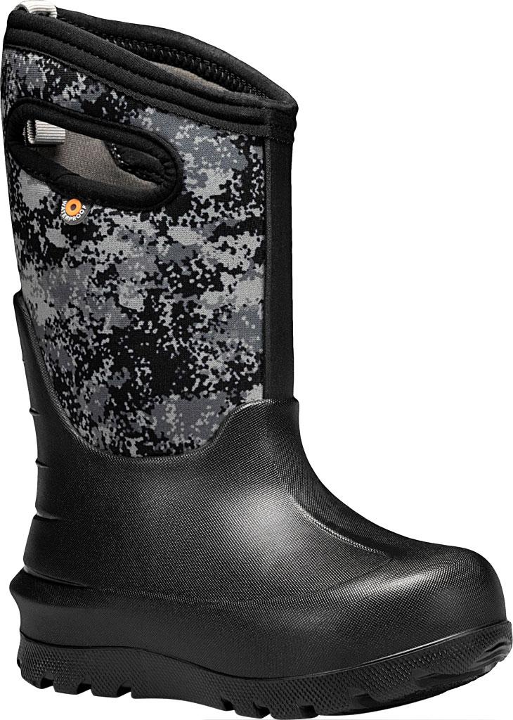 Children's Bogs Neo-Classic Pull On Winter Boot, Black Multi Bigfoot Rubber/Nylon, large, image 1