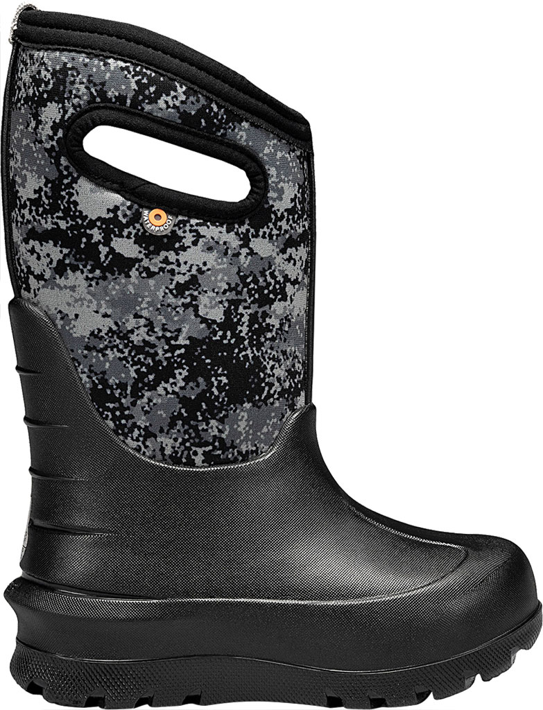 Children's Bogs Neo-Classic Pull On Winter Boot, Black Multi Bigfoot Rubber/Nylon, large, image 2