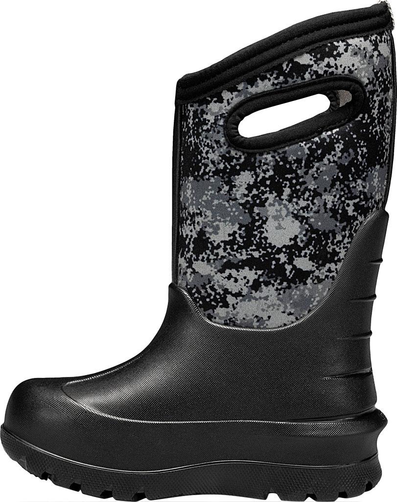 Children's Bogs Neo-Classic Pull On Winter Boot, Black Multi Bigfoot Rubber/Nylon, large, image 3