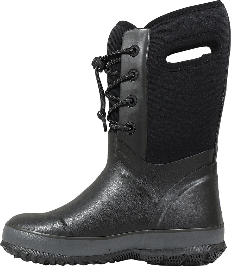 Children's Bogs Arcata Waterproof Lace Up Boot, Black Rubber/Nylon Jersey, large, image 3