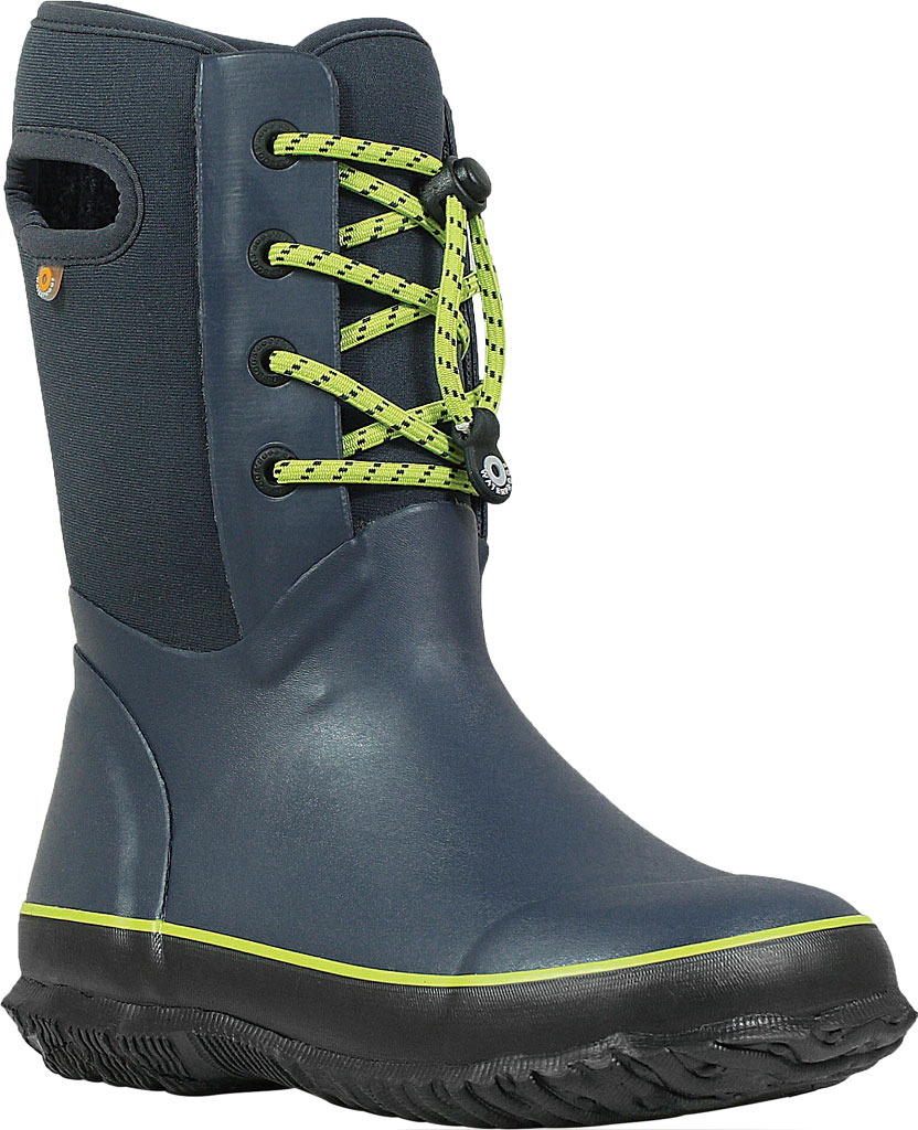 Children's Bogs Arcata Waterproof Lace Up Boot, Navy Rubber/Nylon Jersey, large, image 1