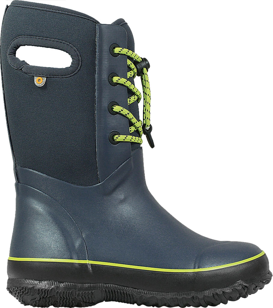 Children's Bogs Arcata Waterproof Lace Up Boot, Navy Rubber/Nylon Jersey, large, image 2