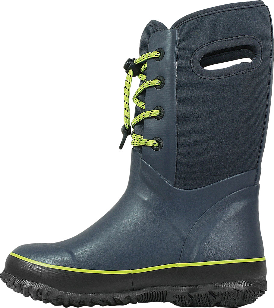 Children's Bogs Arcata Waterproof Lace Up Boot, Navy Rubber/Nylon Jersey, large, image 3